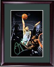 Jayson Tatum Celtics signed 10x14 photo vs Lebron James framed auto Fanatics COA