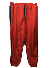Vintage Nautica Competition Mesh-Lined Red Track Pants  Men's Size L Large