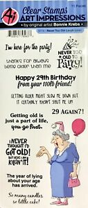 ART IMPRESSIONS CLEAR STAMPS ~NEVER TO OLD LAUGH LINES SET CODE 5114