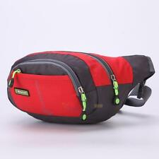Men Waist Bag Packs Sport Backpack Purse Messenger Bag Running Outdoor Red