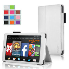 Exact Pro PU Leather Folio Stand Case for Amazon Kindle Fire HD 6 2014 White