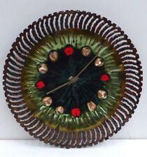 VINTAGE RETRO ENAMEL WALL CLOCK JUNGHANS GERMAN MOVEMENT MID CENTURY DESIGN