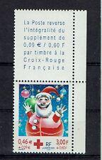 FRANCE TIMBRE CROIX ROUGE AVEC VIGNETTE 3436 ** MNH D PERE NOEL - 2001