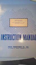 Freed Transformer Co 1020 C Cmegohmeter Instruction Book