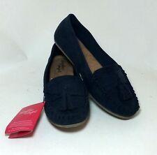 SALE Navy Women Moccasin Slip on DexFlex Comfort Casual Shoe Sneaker Sandal sz8W