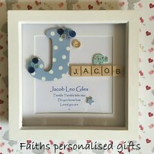 CHILD/BABY PERSONALISED BOX FRAME CHRISTENING/BIRTH/KEEPSAKE/CHRISTMASGIFT FRAME