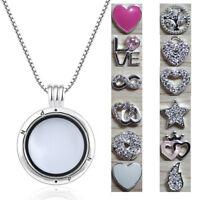 925 Silver European Sterling DIY Floating Locket Petite Charms Bead for Nekclace
