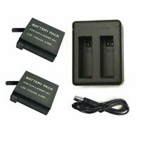 2x Battery AHDBT-401 for GoPro Hero4 Black & Silver Edition - 1160mAh +Charger