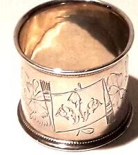 Antigua ruso servilletero plata 84 Toula a finales de siglo 19.