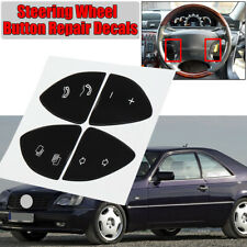For Mercedes Benz W220 S430 S500 CL500 Steering Wheel Button Repair Stickers