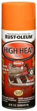 AUTOMOTIVE 12 OZ HIGH HEAT 2000 DEGREE SPRAY PAINT FLAT ORANGE RESISTS RUST