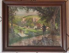 Antikes Bild Gemälde Bilderrahmen Holzrahmen Holz 50 x 40 cm