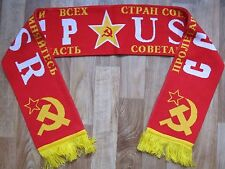 Russian scarf old Russia USSR CCCP hammer and sickle SOVET UNION