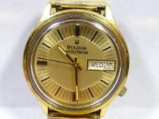 Vintage 1976 Bulova Accutron 2182 Tuning Fork Men's Wrist Watch runs 20 Microns