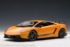 LAMBORGHINI GALLARDO LP570-4 SUPERLEGGERA ORANGE 1:18 AUTOART 74656 SALE AUCTION