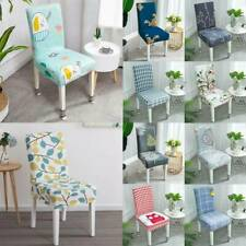 Universal Stretch Chair Covers Cartoon Floral Dining Room Seat Cover Slipcovers
