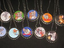 tom and jerry  lot of 10 bottlecap cool necklaces necklace loot bag party favors