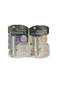 2 ~ ChapStick Total Hydration ~ Lip Balm ~ Lavender + Chamomile & Orange + Lemon