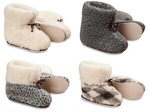 Women's Sheepskin Slippers Cozy Foot Lady Boots Warm Wool Hard Sole Bootees Size