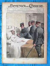 La Domenica del Corriere 27 giugno 1915 WW1 Gen. De Rossi - Alpini - Umberto