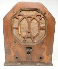 vintage REMLER MINUTETTE TOMBSTONE RADIO #21 part: WOOD SHELL w/ SPEAKER HOLDER