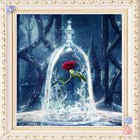 5D Rose Wall Diamond Embroidery Painting DIY Rhinestone Cross Stitch Craft Kit