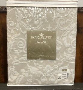 NEW! Royal Velvet Bedspread PEBBLE BEACH - Twin - $109 retail!