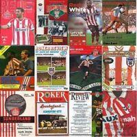 Programme Sunderland Football Roker Park + SOL Home Programmes - Various Games