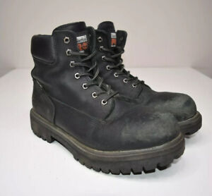Timberland Pro Series Steel Toe Boots Mens 10.5 M Direct Attach 6 Inch 26038