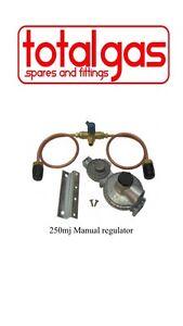 LPG REGULATOR KIT TWIN STAGE 250MJ SUIT CARAVAN AND HOME USE