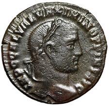 "Maximinus II Daia AE Follis ""MAIXIMINO Legends & Genius"" Heraclea RIC 49a Scarce"