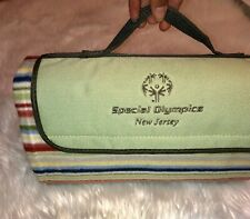 Picnic Blanket Special Olympics N.J Embroidered Logo Foldable Camping Outdoors