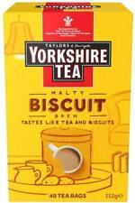 Yorkshire Tea biscuit Brew Tea Bags Malt douceur biscuit saveur 160 sachet de th...