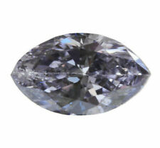 0.03 Carat Fancy Gray Violet GIA Certified Diamond Natural Color Marquise RARE