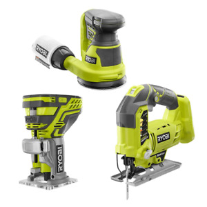 One+ 18V Cordless Combo Kit (3-Tool) With Jig Saw, Trim Router And Random Orbit