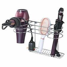 Bathroom Wall Mount Metal Hair  Organizer Storage Basket, Steel Wire