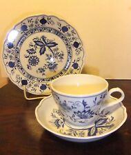 Kaffee Gedeck - Form Marienbad - Ingres Weiss - Zwiebelmuster Blau