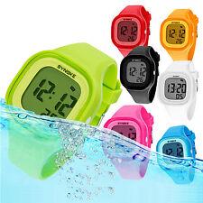 SYNOKE Boys Girls Kids Watches Sport Waterproof Alarm LED Silicone Digital Watch