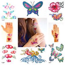 Tattoos, 50  Glitzertattoo Mädchen Kindergeburtstag Party Schmetterlinge Blumen