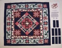 """FLORAL QUILT Cotton Fabric Wall Hanging Panel - Finished Size Approx 34"""" x 36"""""""
