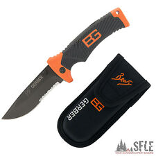 GERBER Bear Grylls Outdoor Folding Knife, Survival-Einhandmesser + Holster