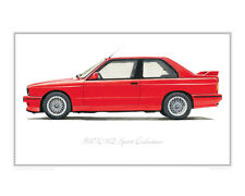 BMW M3 Sport Evo - Limited Edition Classic Car Print Poster by Steve Dunn