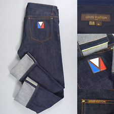LOUIS VUITTON Lux $1295 Blue Denim Selvedge Jeans W32 L30 Made in Italy