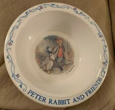 """Peter The Rabbit & Friends Plastic Bowl Collectible 5 1/2"""" Diam. F. Warne & Co."""