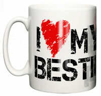 """Dirty Fingers Mug """"I love Heart My Bestie, Yes she bought me this"""" Best Friends"""