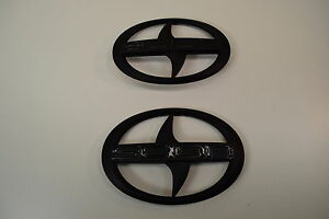 Set of BRAND NEW SCION iA Front and Rear Black Badge Emblem   PAIR