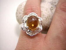 Echte Diamanten-Ringe aus Weißgold mit Citrin