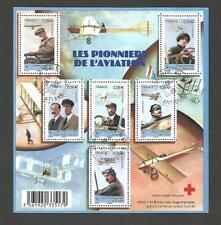 BLOC-FEUILLET LES PIONNIERS DE L'AVIATION - OBLITÉRÉ