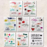 Silikonstempel Stempel Clear Stamp Scrapbooking Basteln Briefmarken Schick DIY