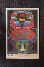 Muddy Waters 1969 Tour poster Winterland Bo Diddley